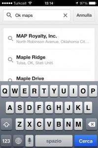 cercare mappa