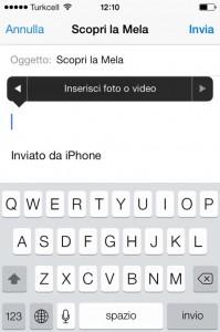 allegare foto iOS7