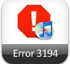 Errore 3194 iPad