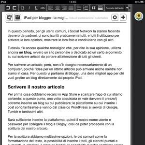 Come facilitare il lavoro di blogger con l'iPad