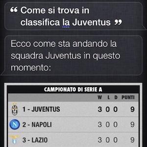 Come utilizzare Siri per conoscere informazioni calcistiche