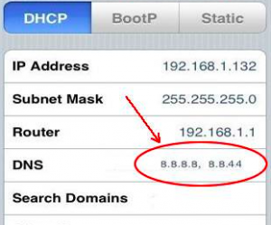 dns iphone
