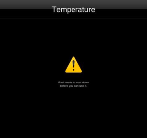 ipad calore spento