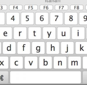 tastiera virtuale mac